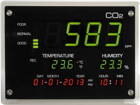 immagine MISURATORE DISPLAY TEMPERATURA / UMIDITA' / CO2