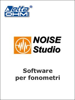 immagine SOFTWARE PROFESSIONALE PER FONOMETRI